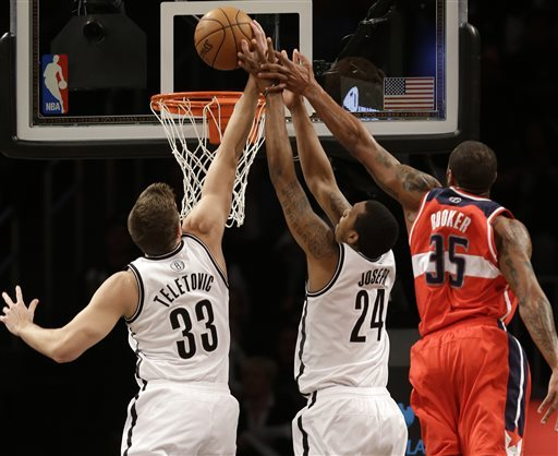 Blatche leads Brooklyn bench over Wizards, 106-101
