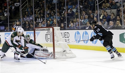 Havlat's 2 goals lead Sharks past Wild 6-1