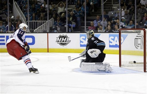 Blue Jackets beat Sharks, 4-3