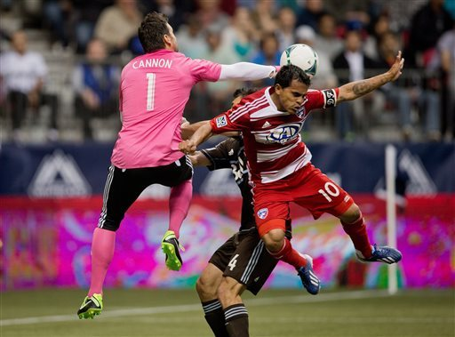 Whitecaps rally to tie FC Dallas 2-2