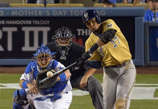 Brewers go deep for 6-4 victory over Dodgers