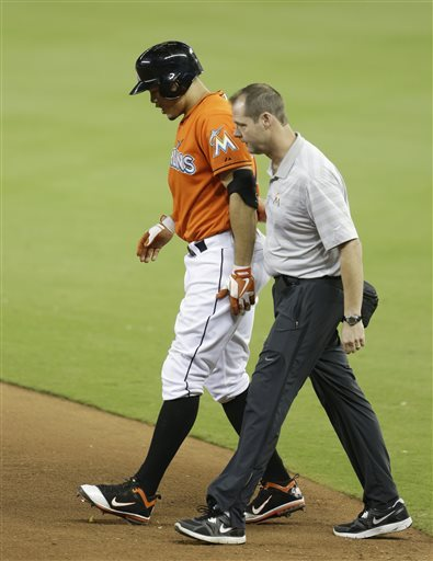 Marlins' Stanton expects to out for about a month