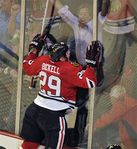 Bickell scores in OT, Blackhawks beat Wild 2-1