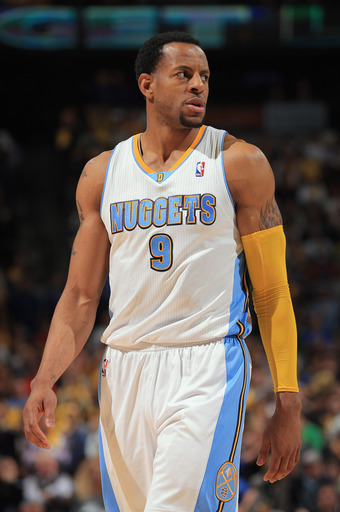 Andre Iguodala is leaving the Nuggets for a four-year, $48 million offer from the Warriors. (AP)
