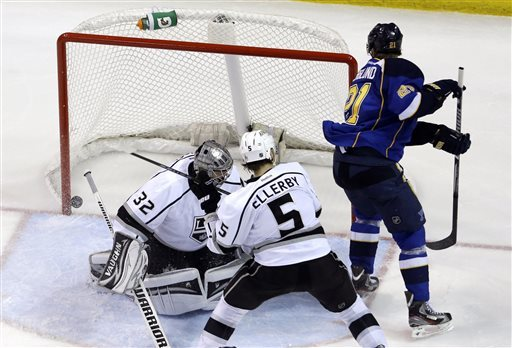Kings need goals to get back in series with Blues