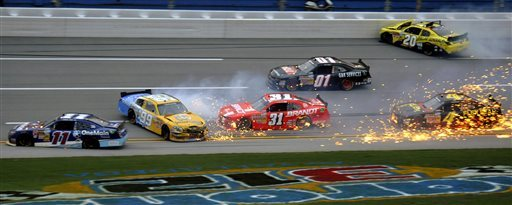 Regan Smith wins wreck-fest at Talladega