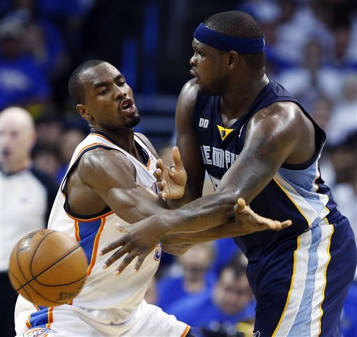 Grizzlies drop Thunder 99-93, even series at 1-1