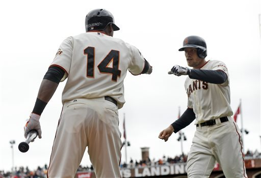Hunter Pence making early impact for Giants