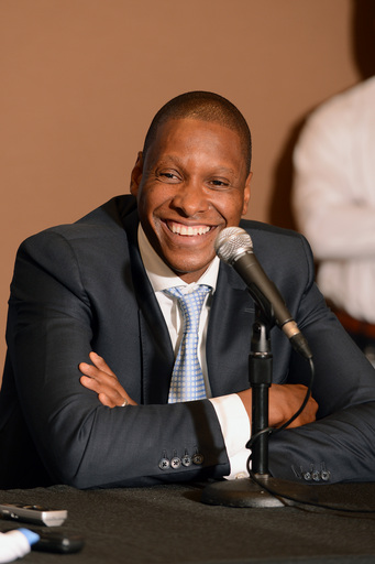 Masai Ujiri will be reunited with Bryan Colangelo in Toronto. (Getty Images)