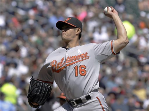 Orioles LHP Chen placed on DL with oblique strain