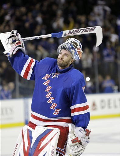 Rangers goalie Henrik Lundqvist has been too busy to bask in the playoff experience. (AP)