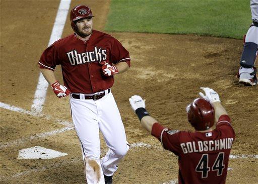 Goldschmidt hits 3 doubles, Arizona beats Braves