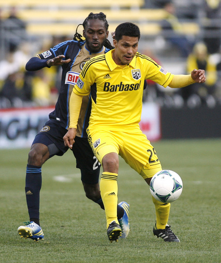 MLS suspends Crew F Arrieta 2 games