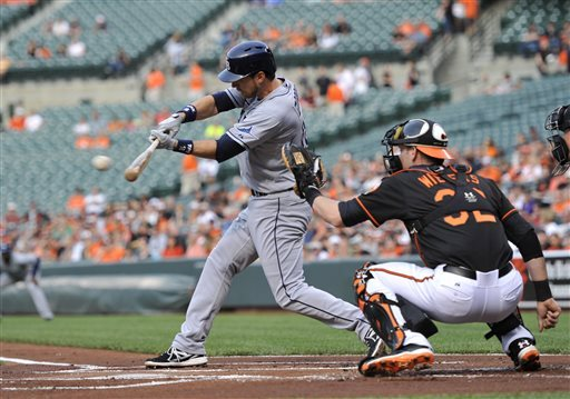 Johnson powers Rays to 12-10 win over Orioles