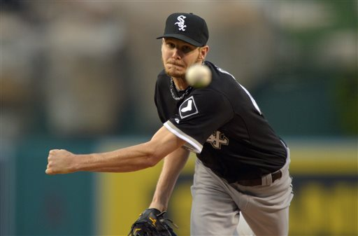 White Sox scratch Sale from Wednesday's start