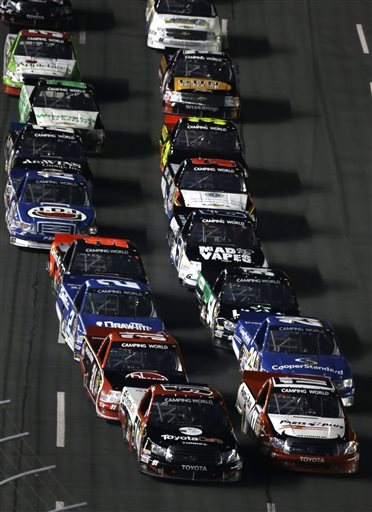 Busch snaps streak, wins Truck race at Charlotte