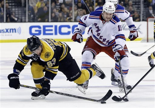 Bruins top Rangers 5-2 with all-out effort