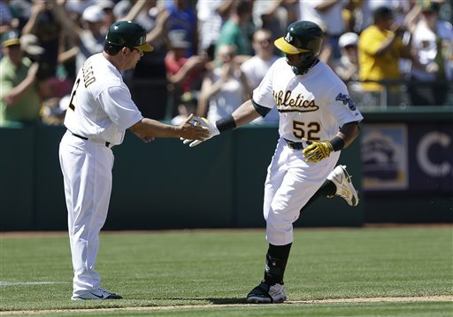 Cespedes homer helps A's complete sweep of Royals