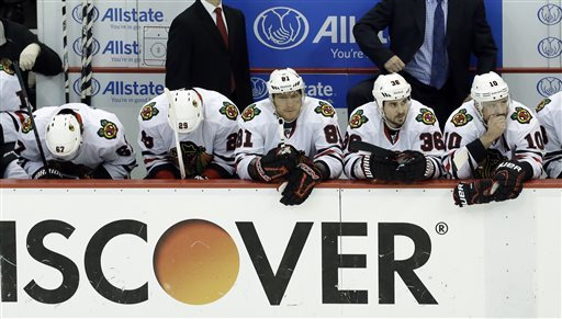 Blackhawks facing elimination after charmed season