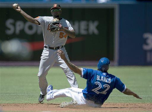 Valencia, Jones homer as Orioles top Blue Jays 6-5