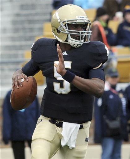 QB Golson no longer enrolled at Notre Dame