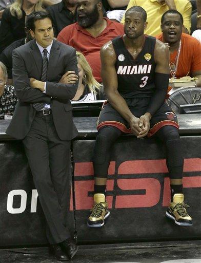 Big 3 help Heat even NBA Finals with Spurs
