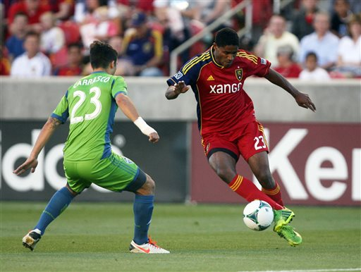 RSL 1st in West after 2-0 win over Sounders