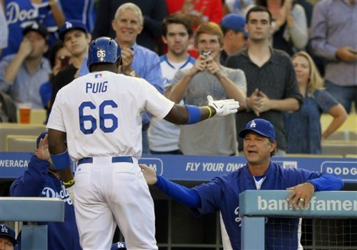 Puig leads Dodgers to 3-1 win over Giants