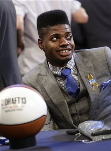 Nerlens Noel had been projected as a possible No. 1 pick. (AP)
