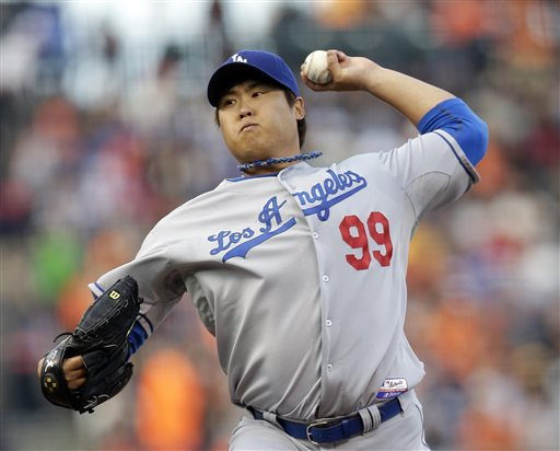 Uribe drives in 7 in Dodgers' 10-2 victory