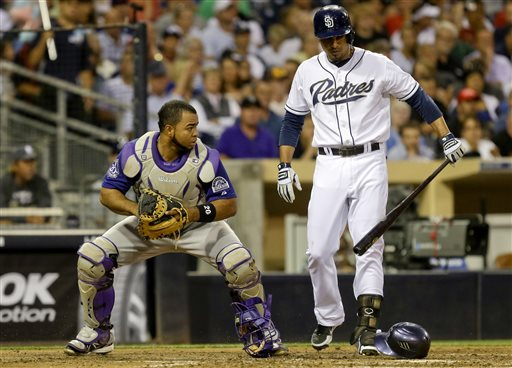 Stults has 4-hitter, Padres top Rockies, 2-1