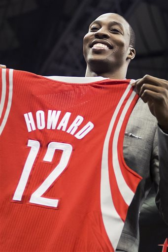 Dwight Howard bought into Parson's belief that the Rockets can contend for a title. (AP)