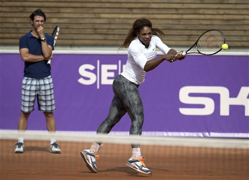 Serena Williams advances to 2nd round in Bastad
