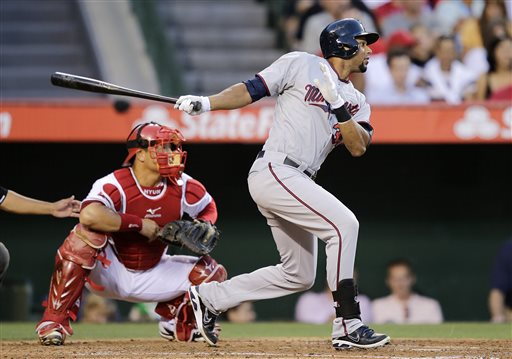 Thomas homers off Blanton, Twins beat Angels 4-3