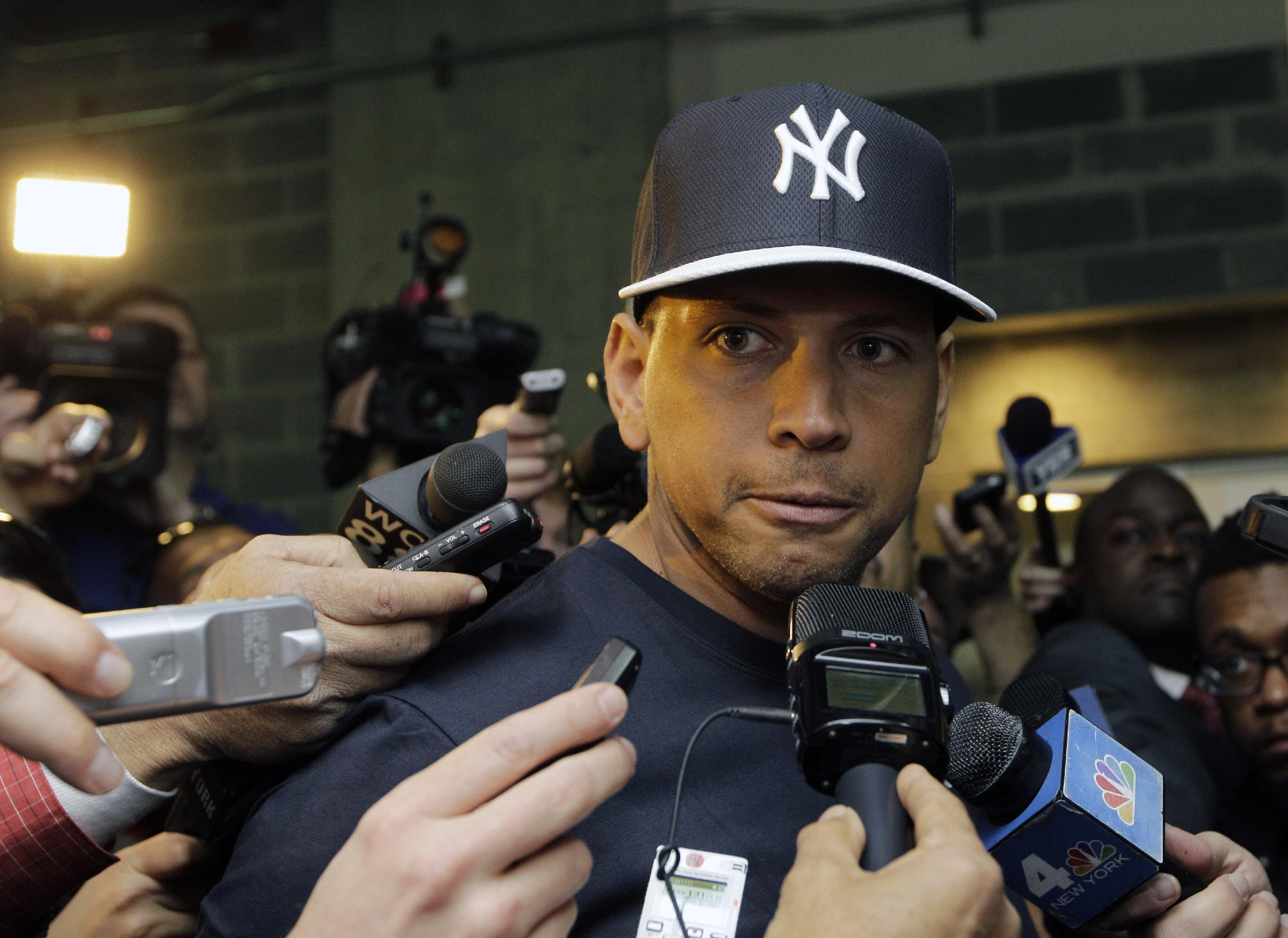 Alex Rodriguez is currently on the Yankees' disabled list with a quadriceps strain. (AP)