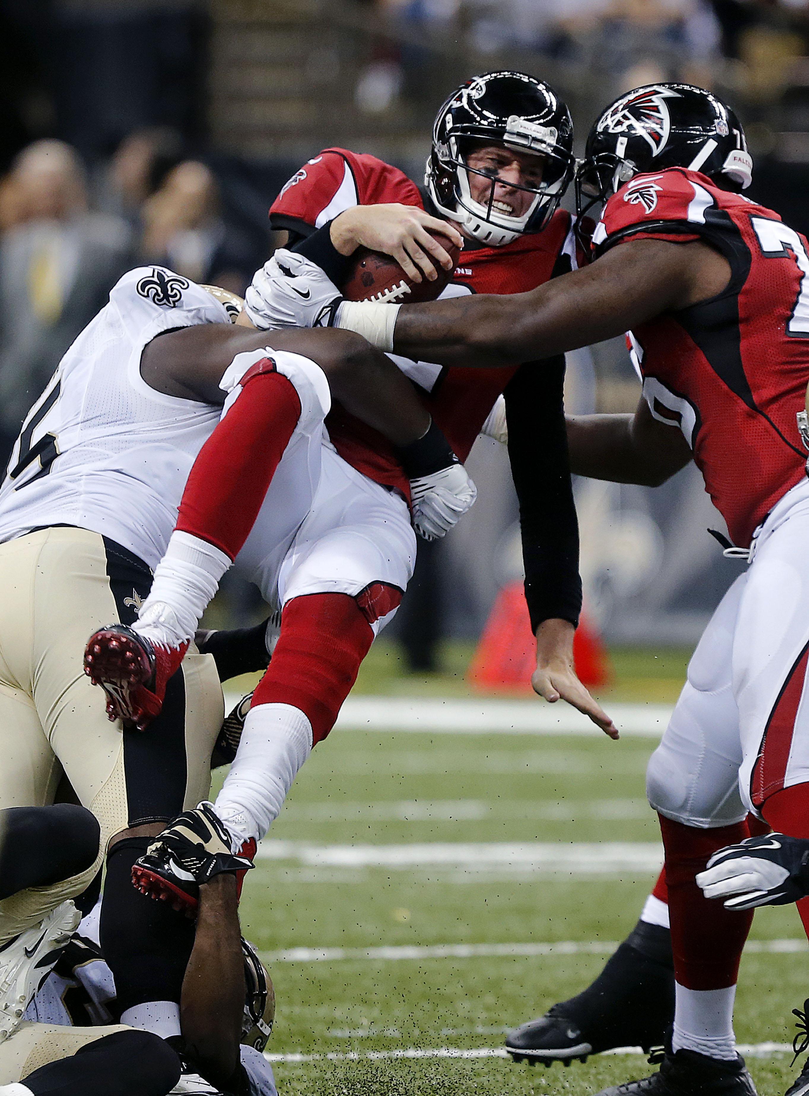 Defense helps Saints beat Falcons 23-17
