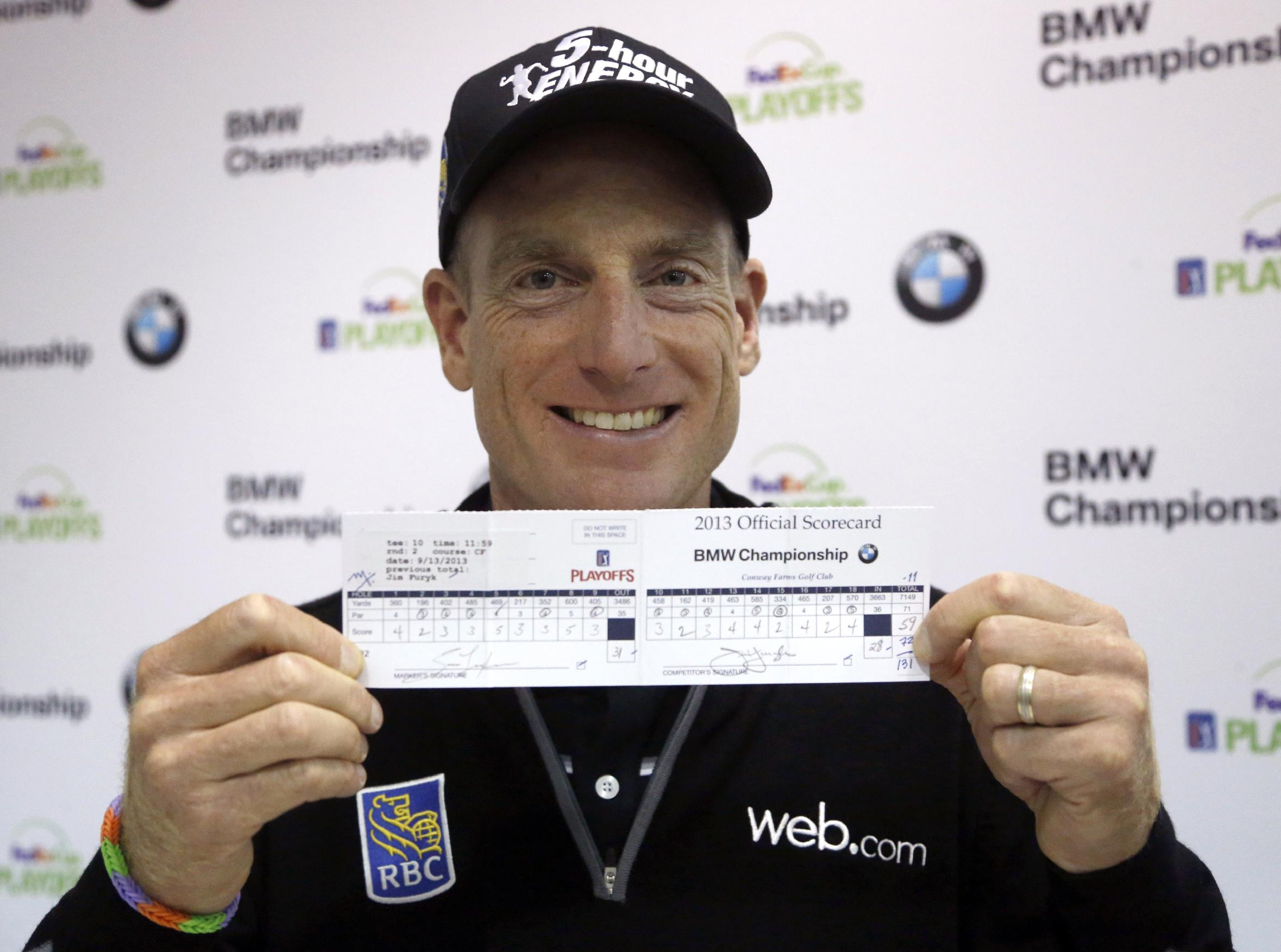 Furyk shoots a 59 at BMW Championship