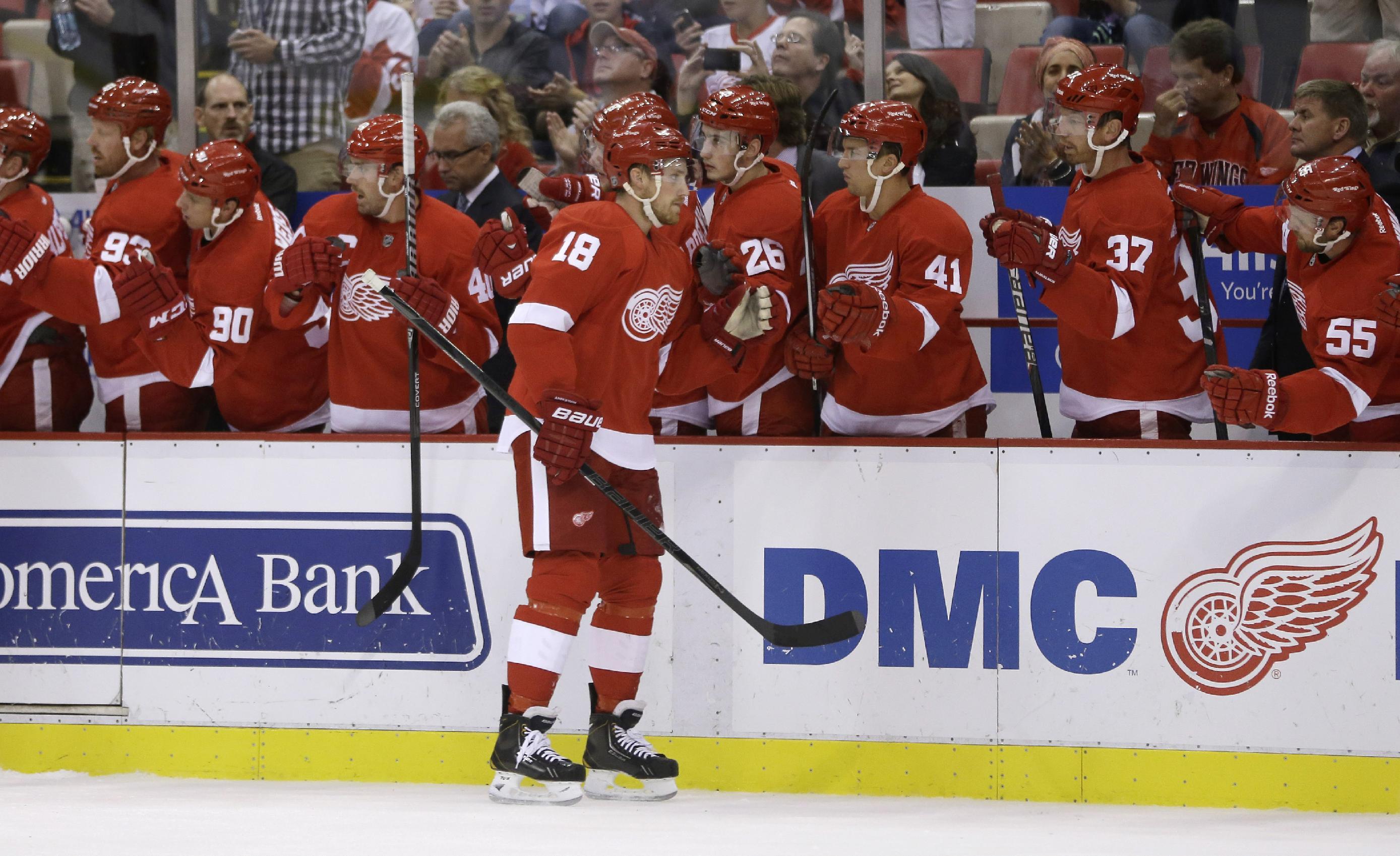 Red Wings beat Maple Leafs 5-2 in preseason