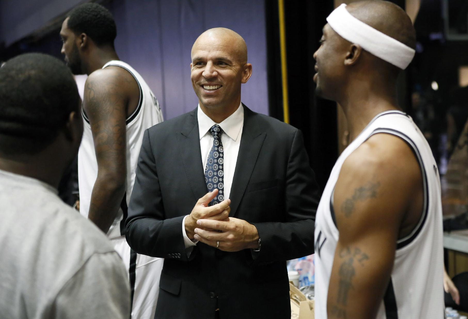 Jason Kidd takes over an experienced, talented roster in Brooklyn. (AP)