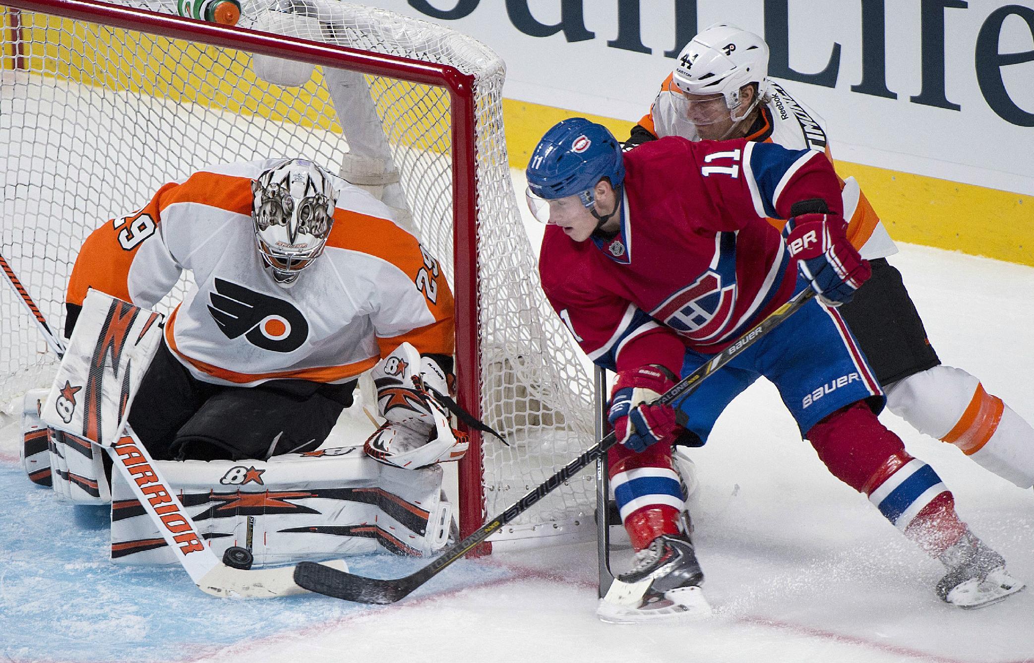 Lars Eller scores, Canadiens beat Flyers 4-1