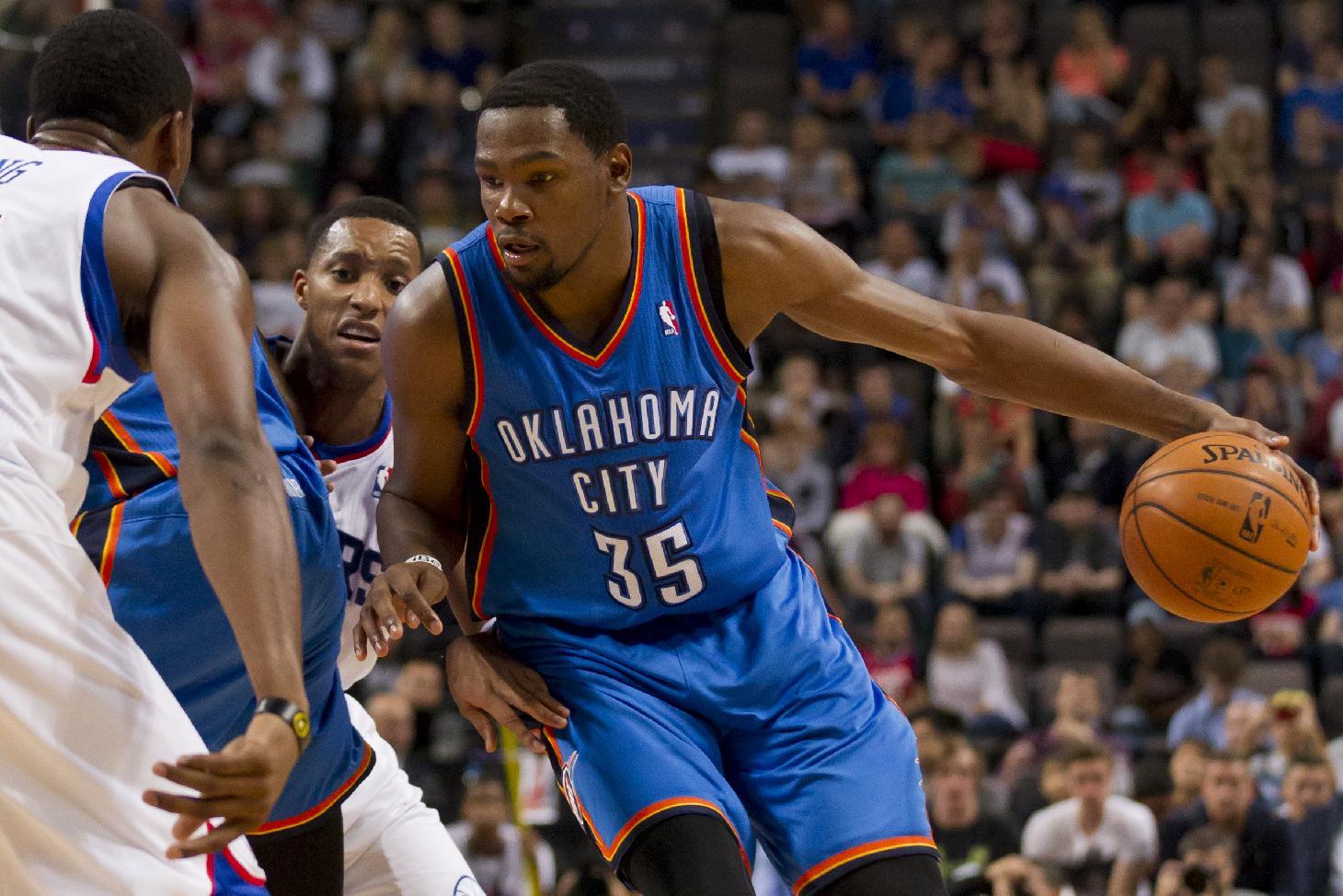 Thunder beat 76ers 103-99 in preseason game