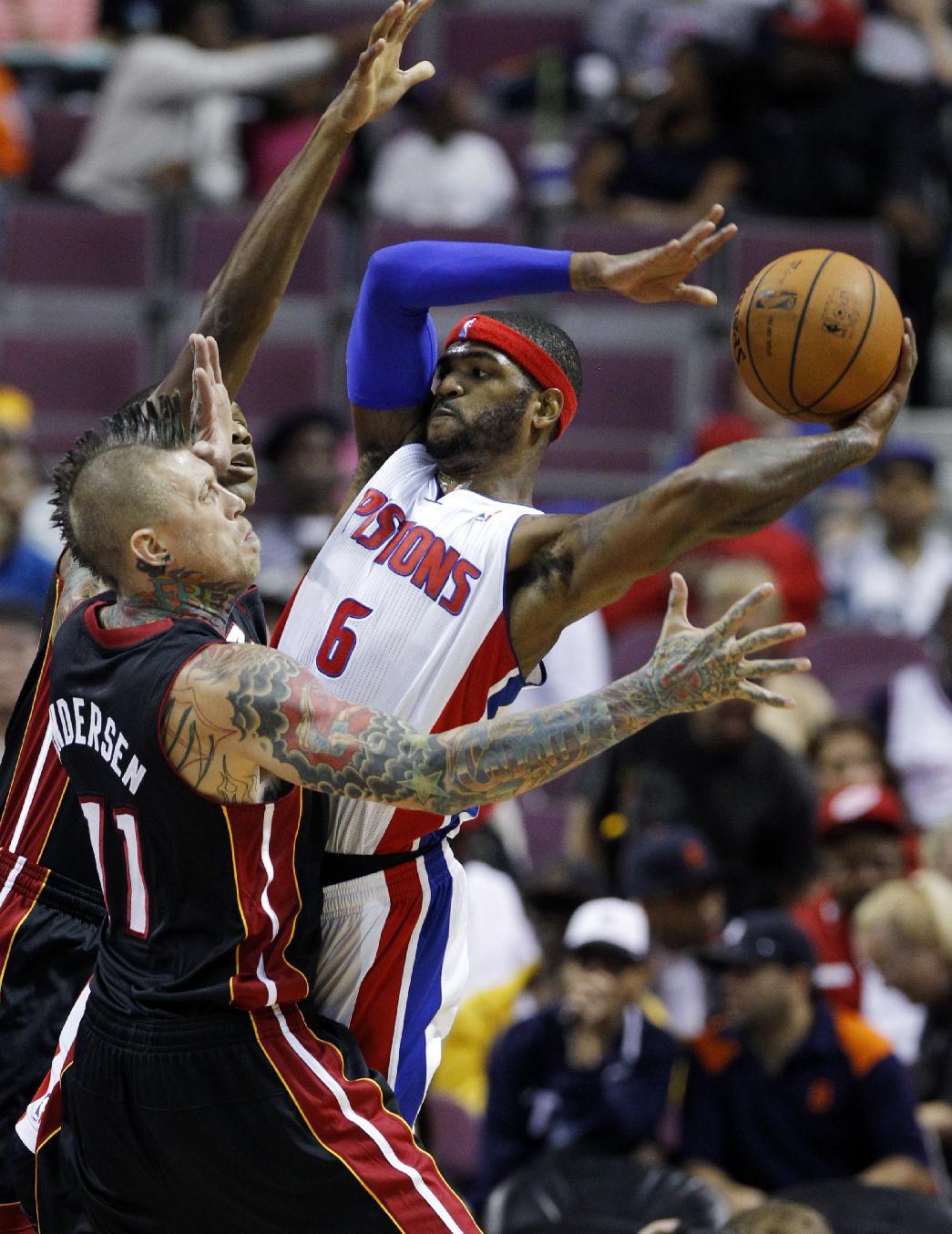 Heat beat Pistons 112-107 in preseason