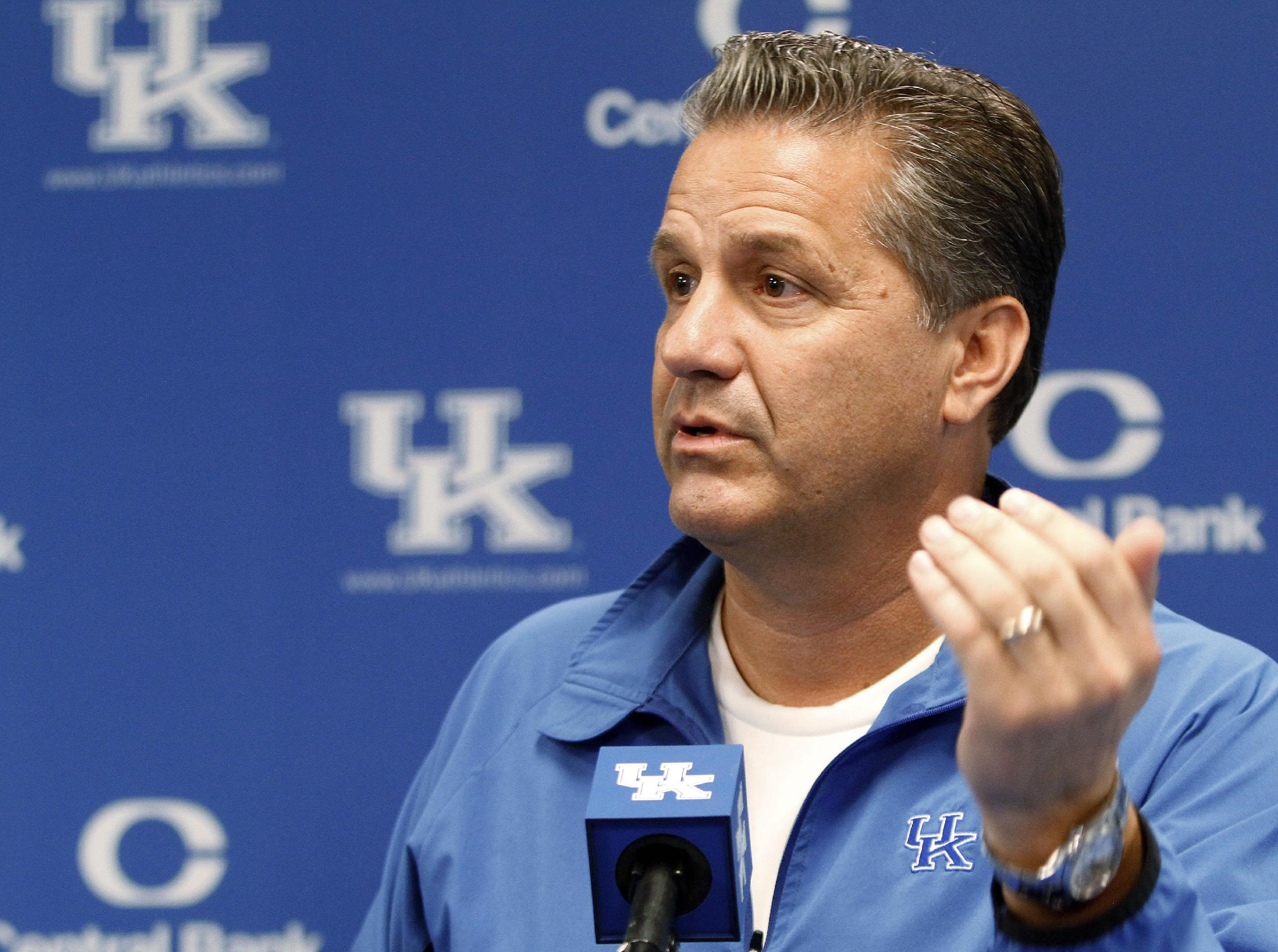 John Calipari knows talk of perfection would only heighten pressure on his young team. (AP)