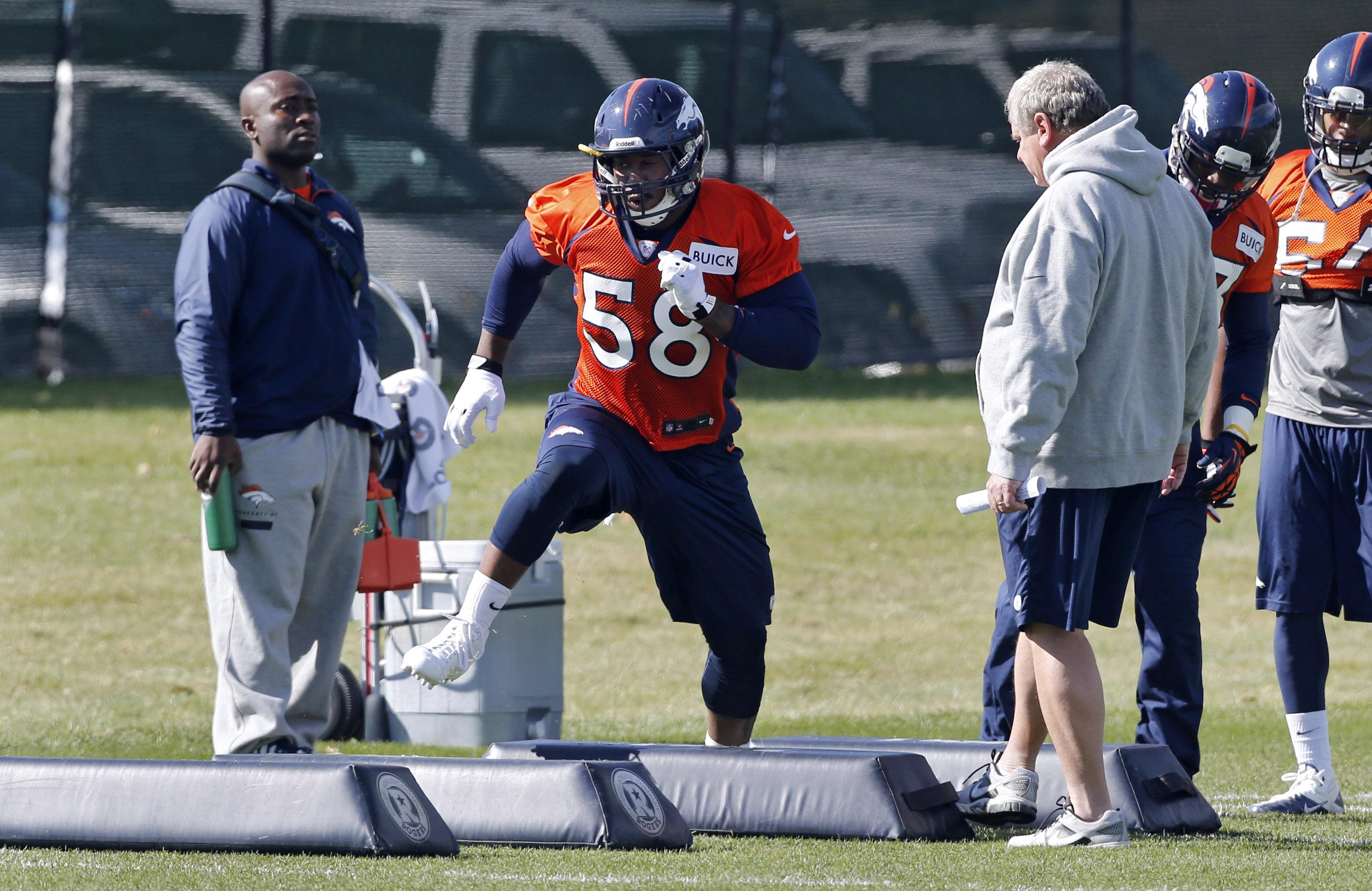 Broncos waive WR King to make room for Von Miller