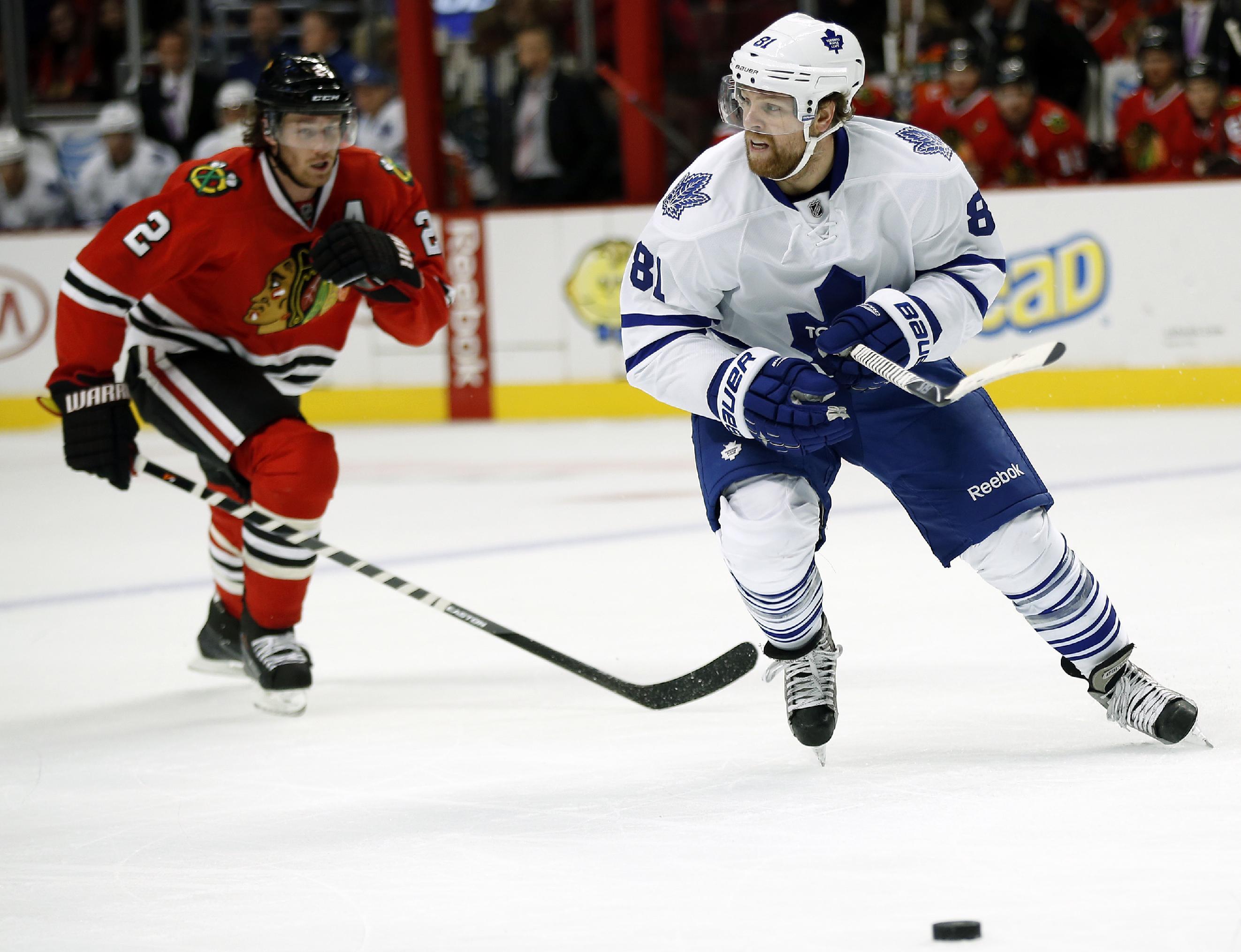 Bickell keys Blackhawks' 3-1 win over Maple Leafs