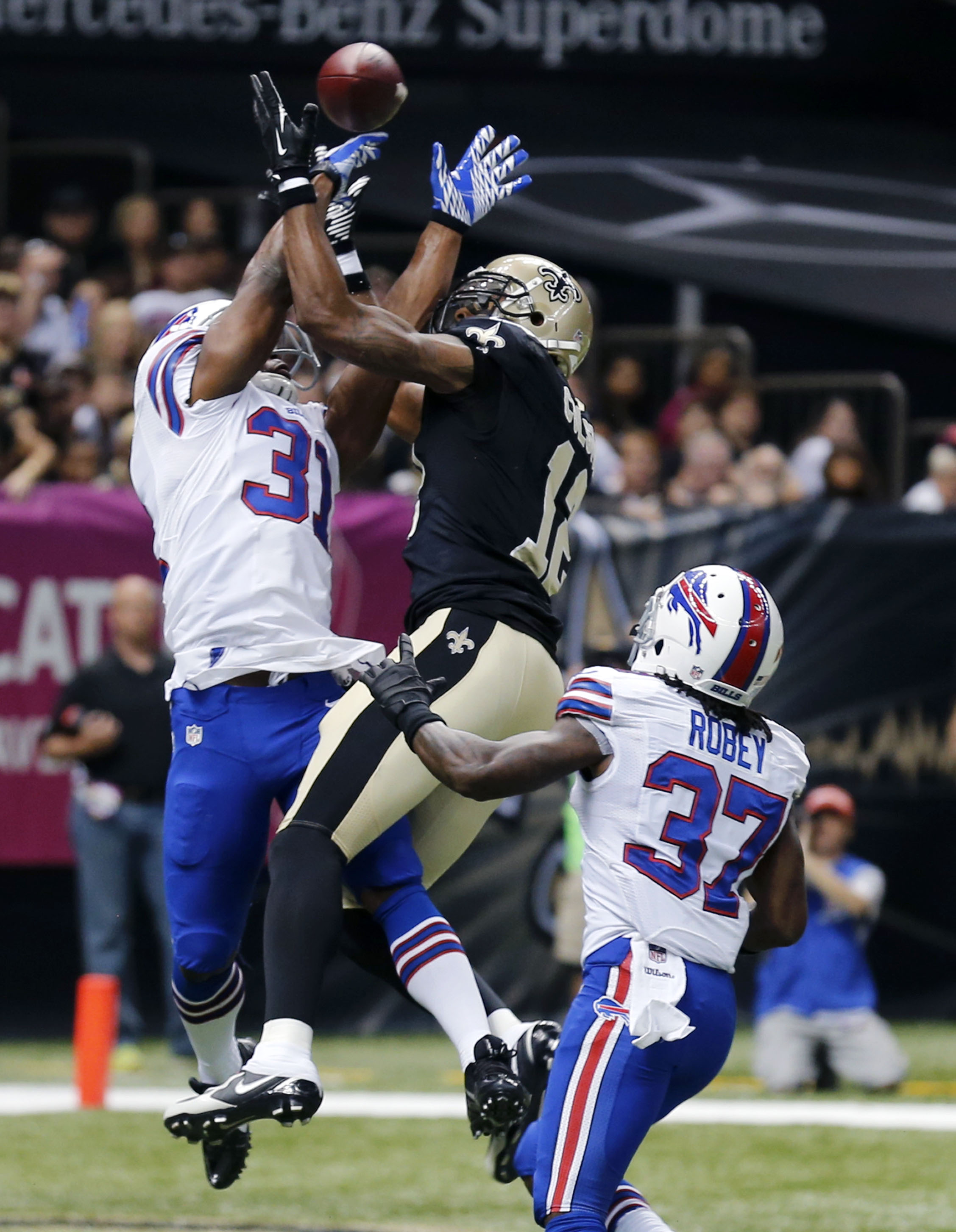 Saints' WR Colston, LB Vilma uncertain vs. Jets