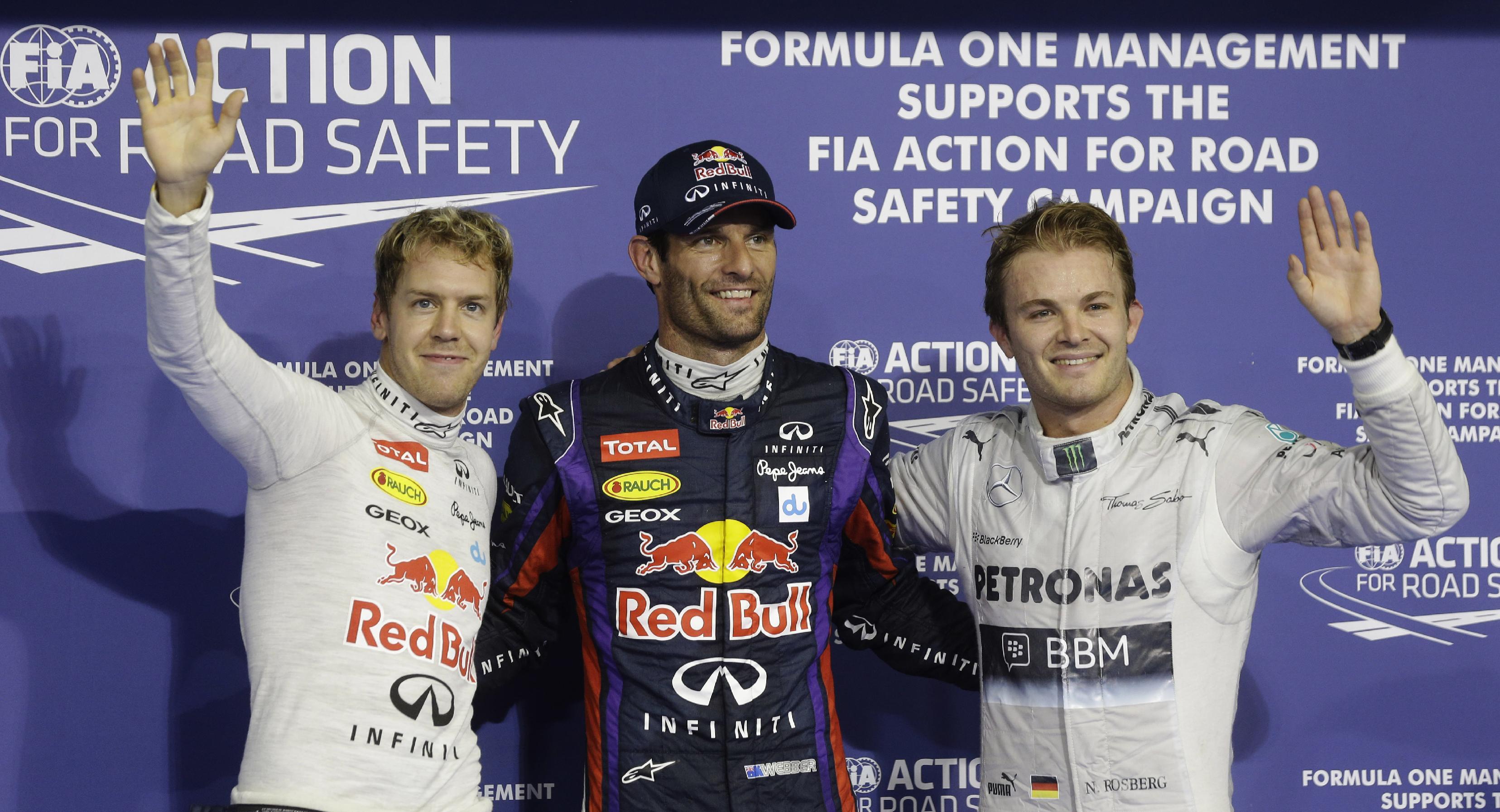 Mark Webber takes pole position at Abu Dhabi GP