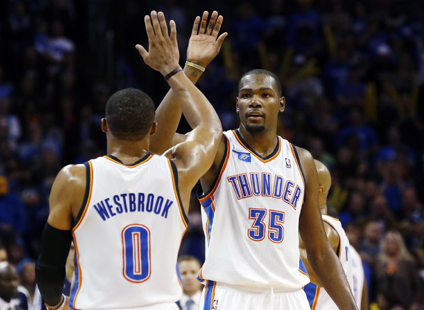 Durant shouldering even more of load for Thunder