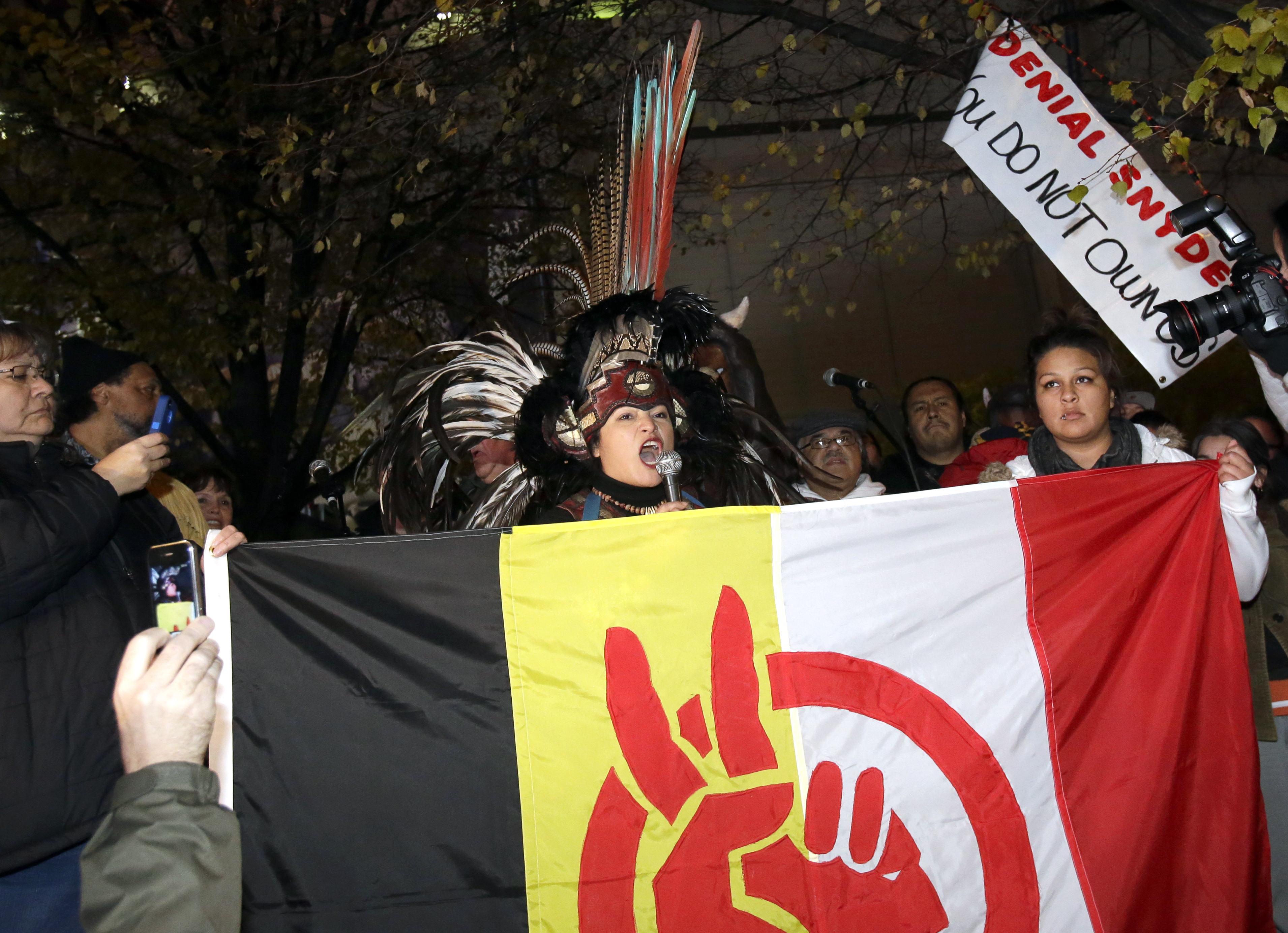 Hundreds rally in Minn. against Redskins' name