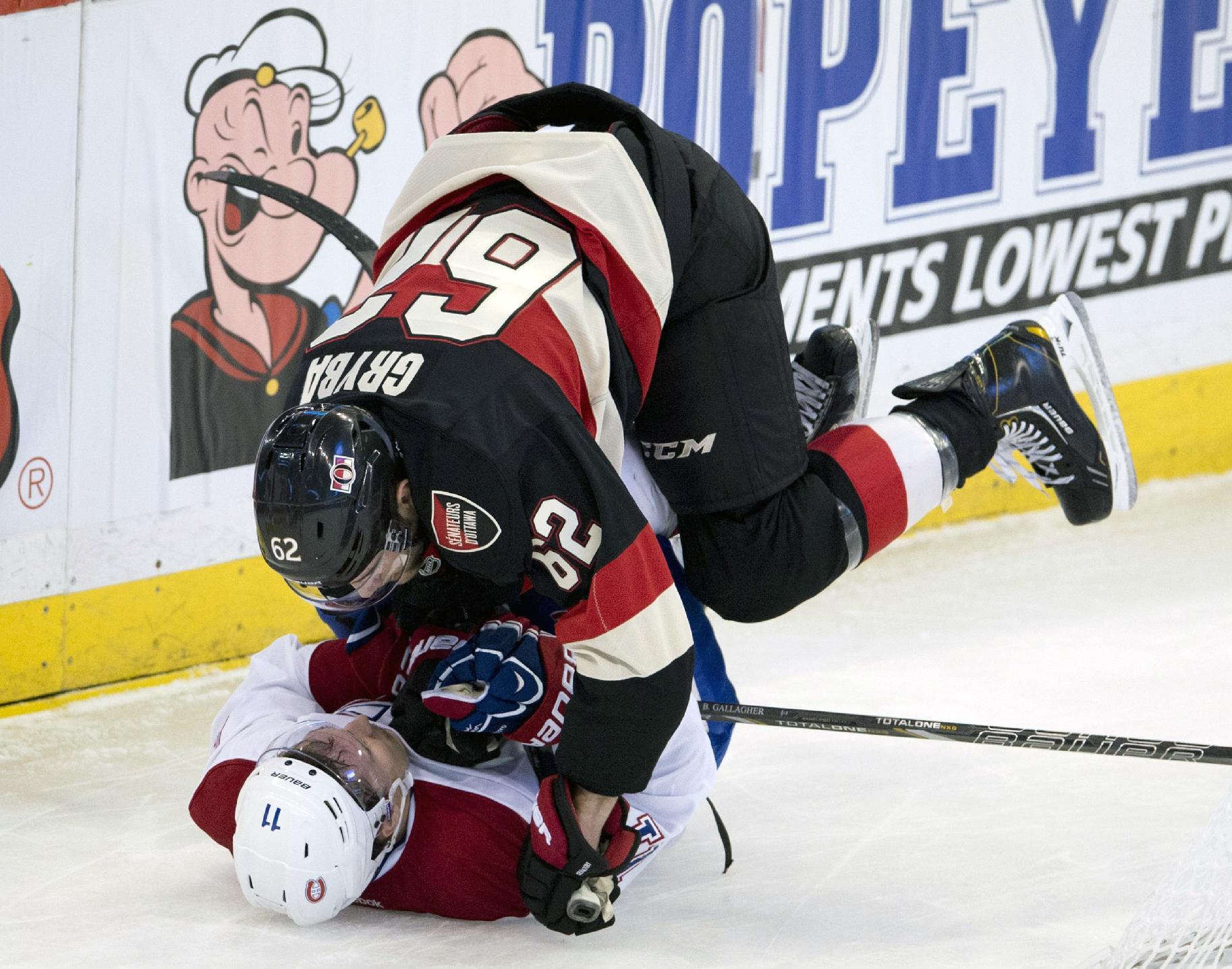 Senators topple Canadiens 4-1